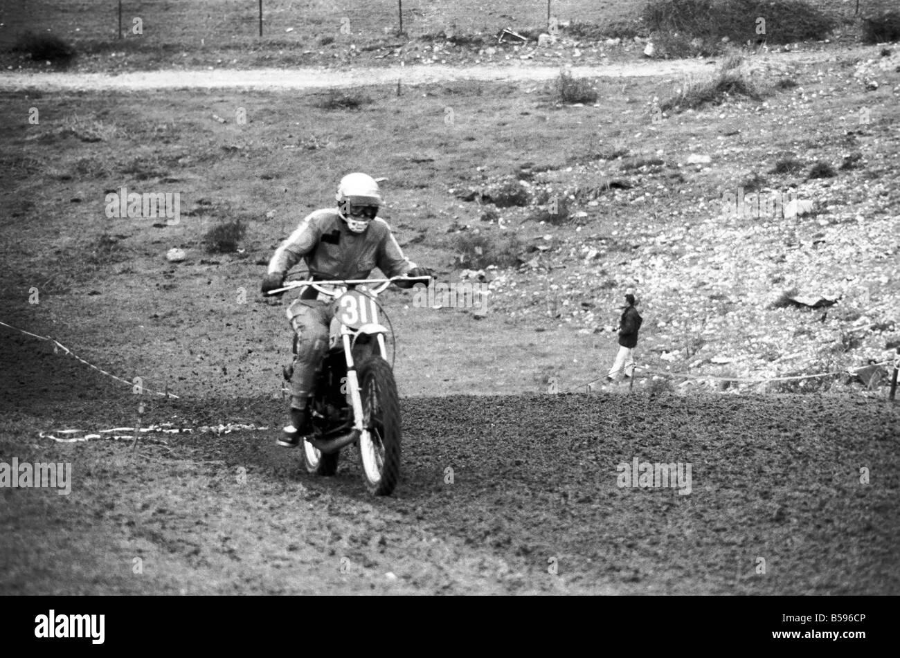 Motorsport/Children/Motorbike: Schoolboys Scramble. March 1975 75-01212-003 - Stock Image