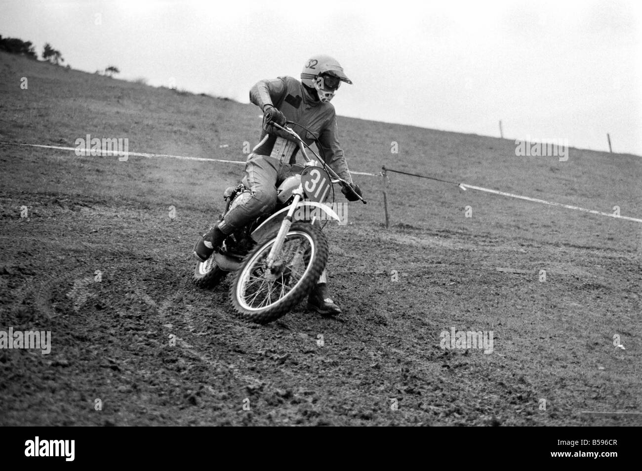 Motorsport/Children/Motorbike: Schoolboys Scramble. March 1975 75-01212-004 - Stock Image