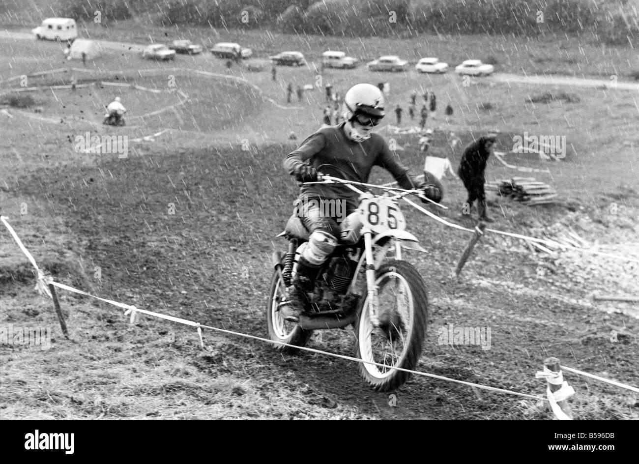Motorsport/Children/Motorbike: Schoolboys Scramble. March 1975 75-01212-010 - Stock Image