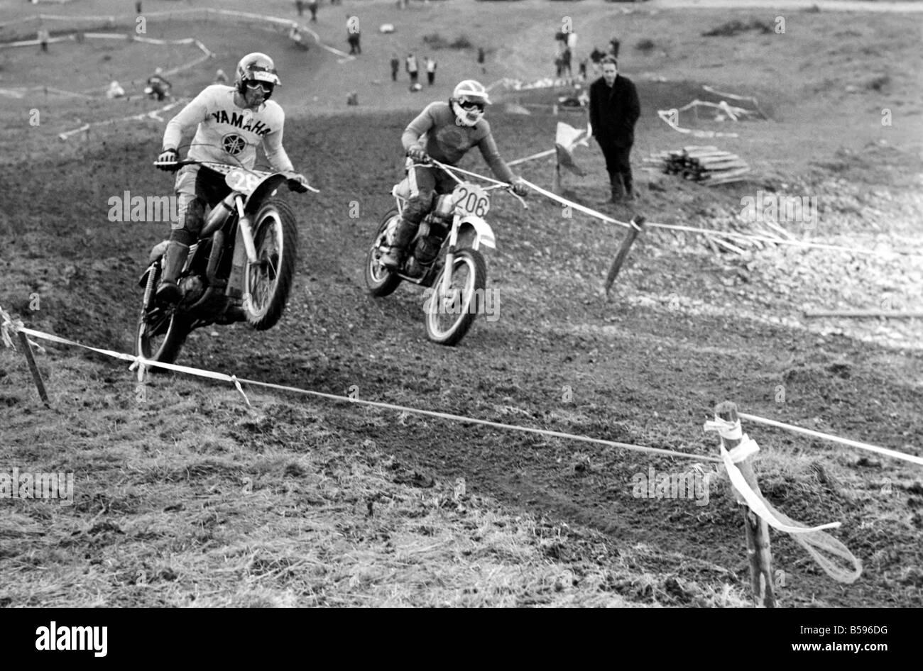 Motorsport/Children/Motorbike: Schoolboys Scramble. March 1975 75-01212-013 - Stock Image