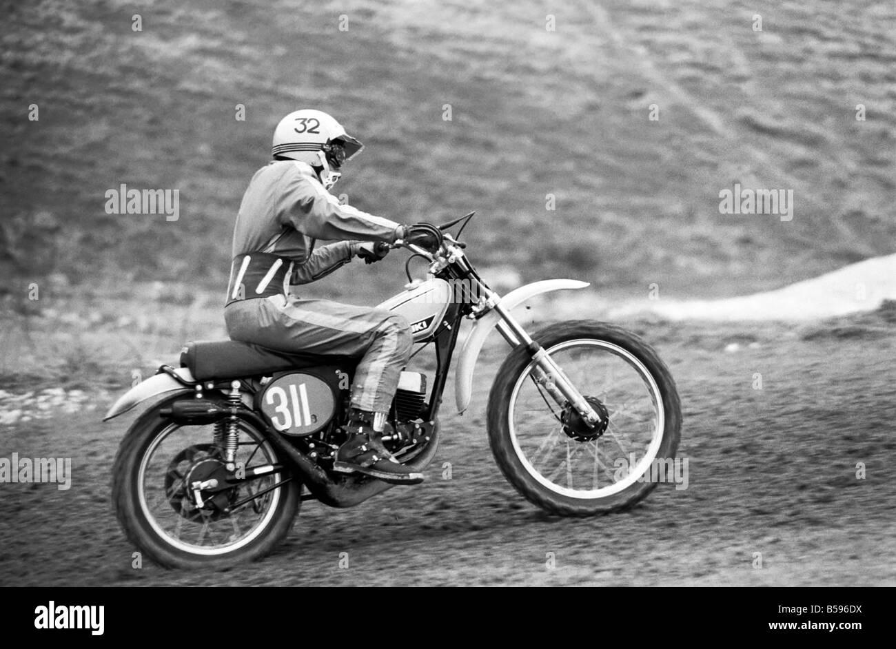 Motorsport/Children/Motorbike: Schoolboys Scramble. March 1975 75-01212-019 - Stock Image