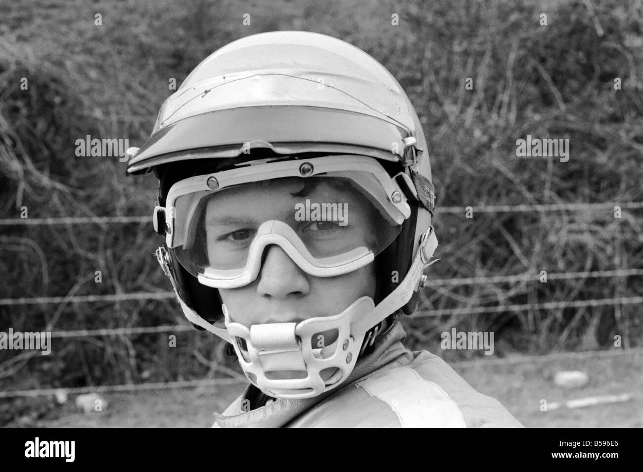 Motorsport/Children/Motorbike: Schoolboys Scramble. March 1975 75-01212-023 - Stock Image