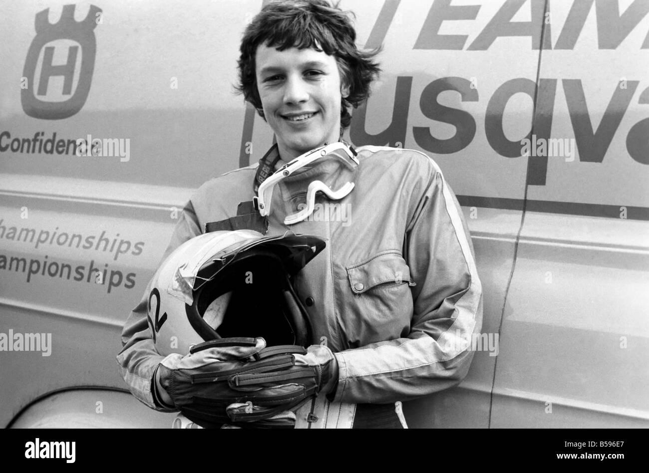 Motorsport/Children/Motorbike: Schoolboys Scramble. March 1975 75-01212 - Stock Image