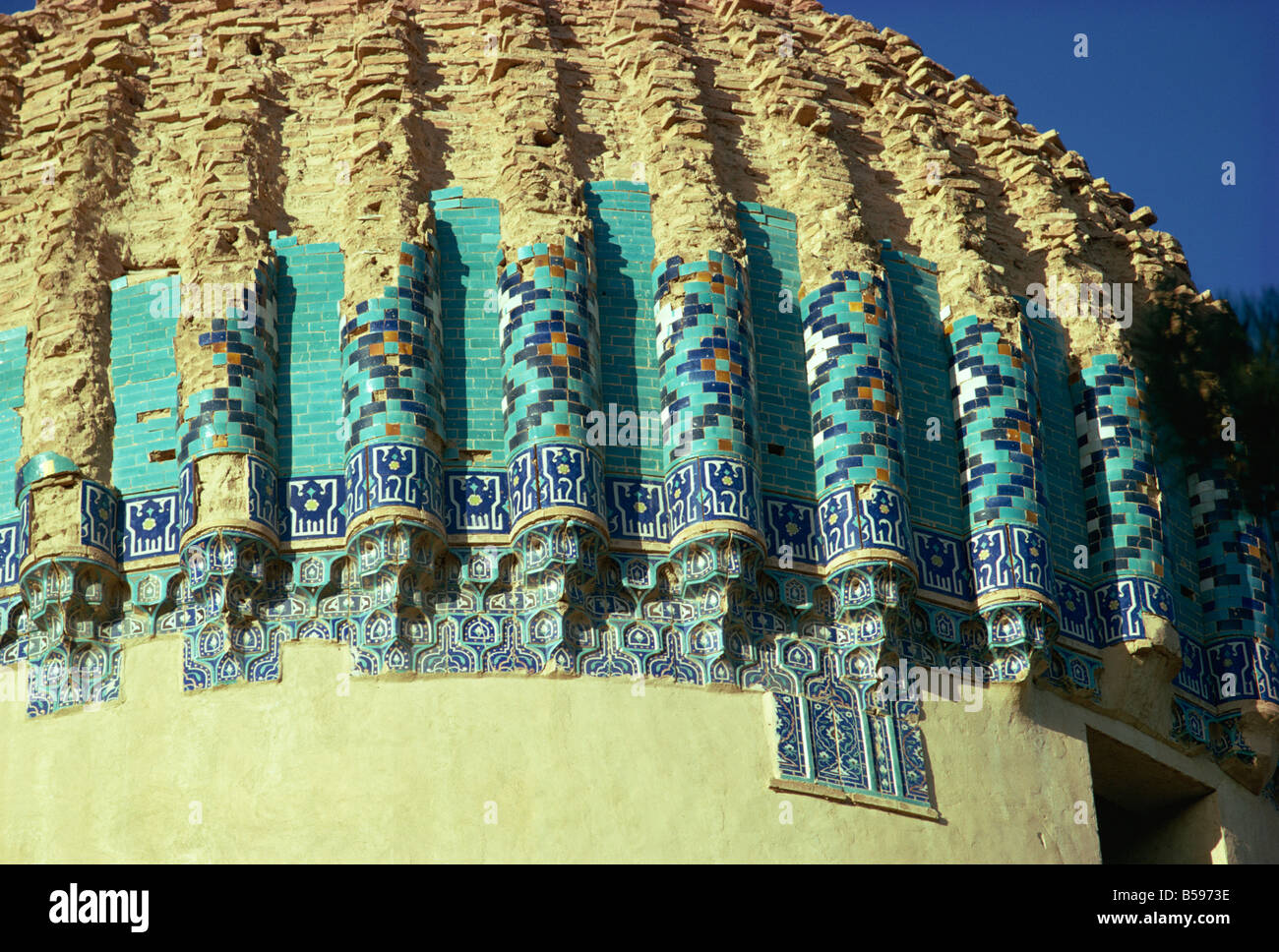 Detail of the tomb of Gawhar Shad Herat Afghanistan Asia - Stock Image