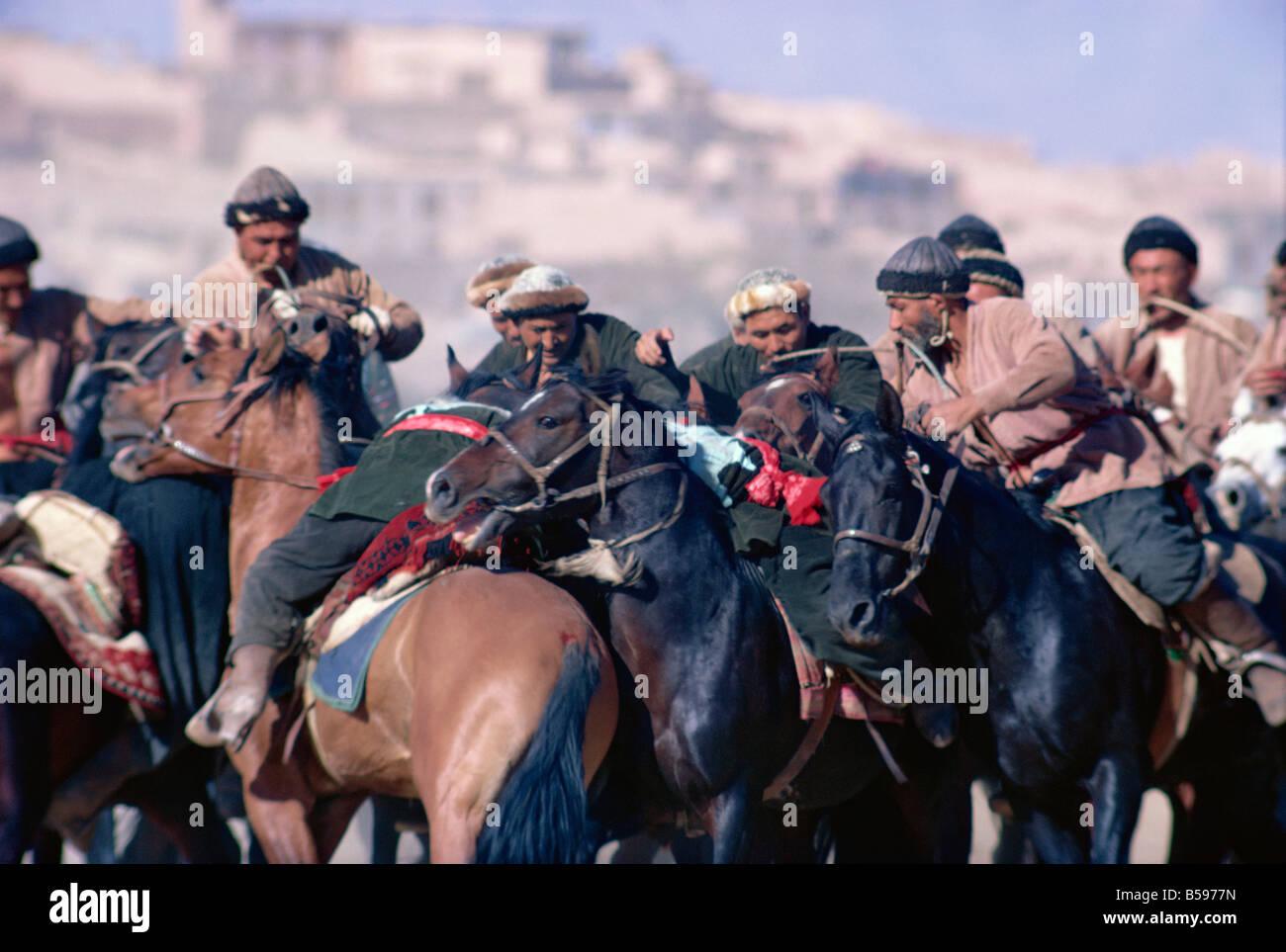 Buzkashi Kabul Afghanistan Asia - Stock Image