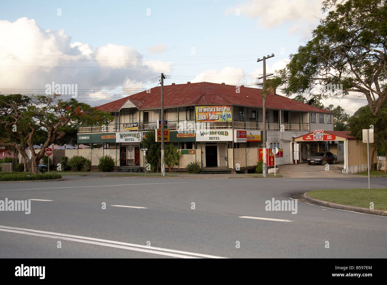 Woodford Hotel in Queensland QLD Australia - Stock Image