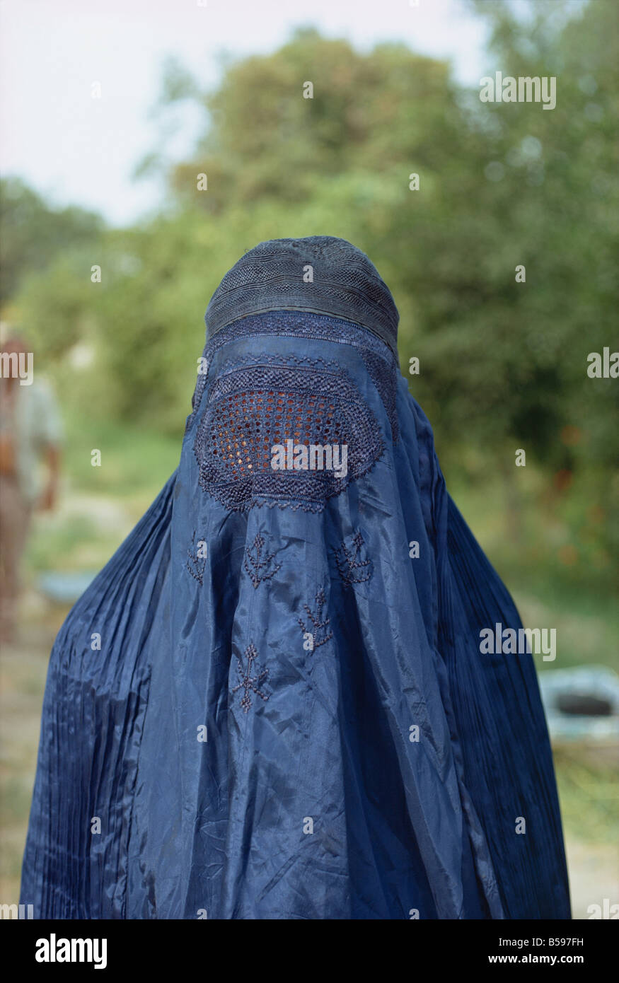 Portrait of a woman in burka in Afghanistan - Stock Image