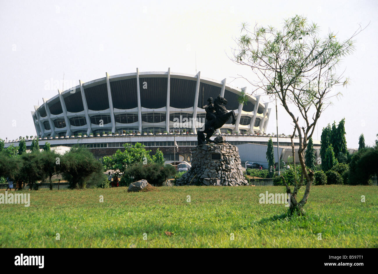 Palace of Culture modern entertainment building in Lagos Nigeria Africa - Stock Image