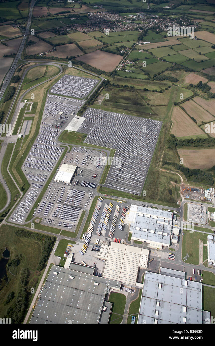 Aerial view north west of the Toyota Manufacturing UK Site country fields Burnaston Derbyshire DE1 England UK High - Stock Image