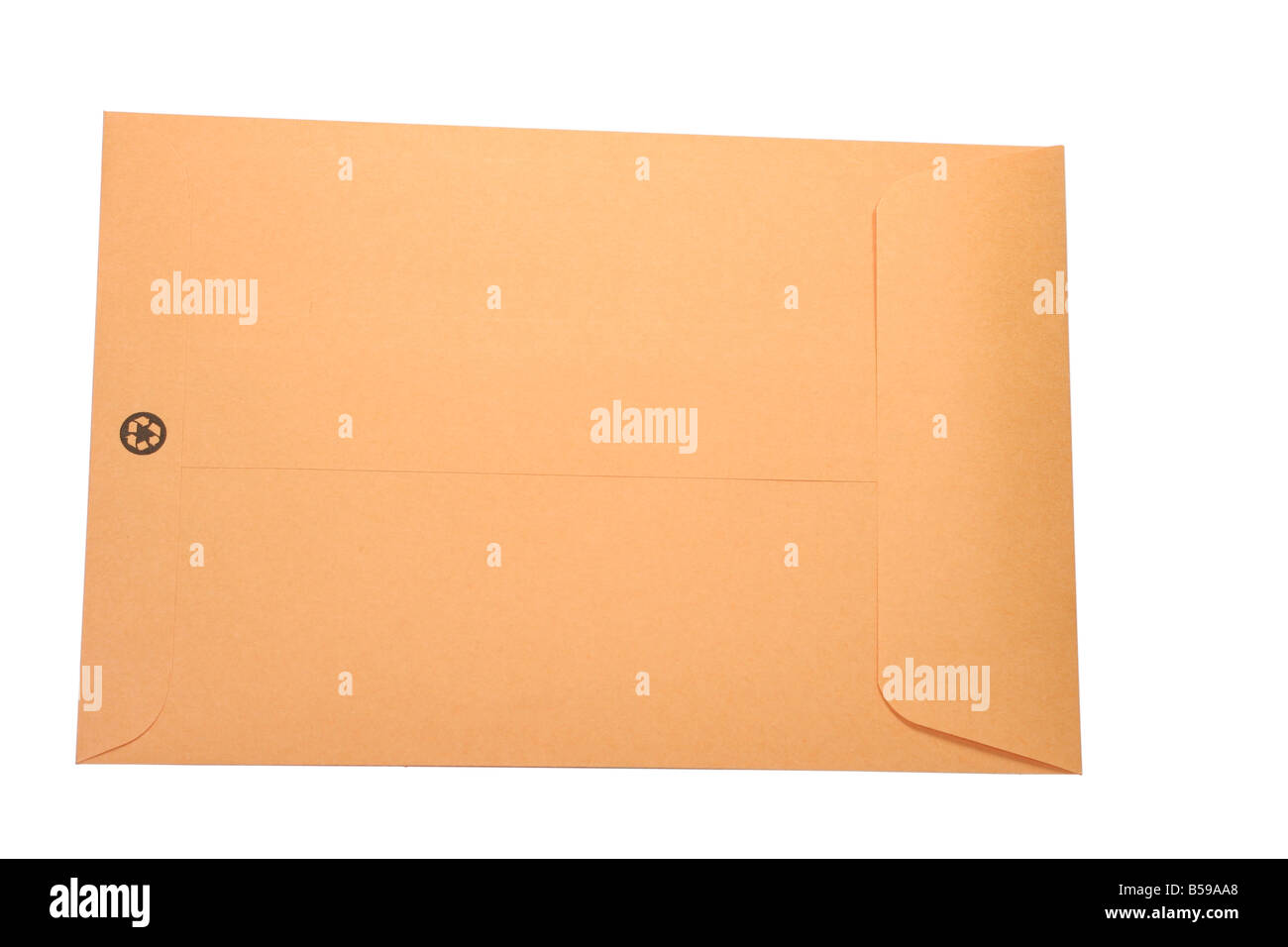 Plain brown gum seal envelope of recyclable material - Stock Image