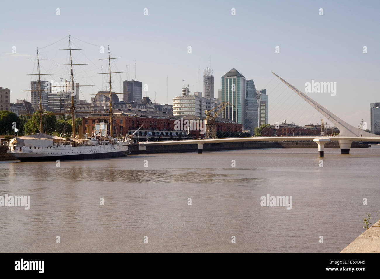 View towards city centre from Puerto Madero Buenos Aires Argentina South America Stock Photo