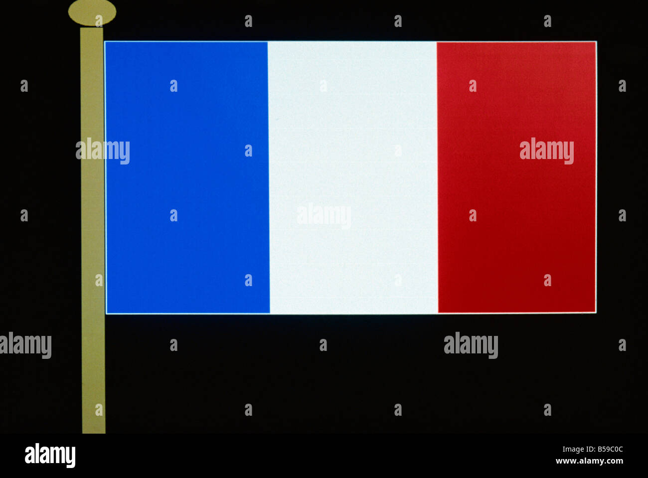 French flag France Europe - Stock Image