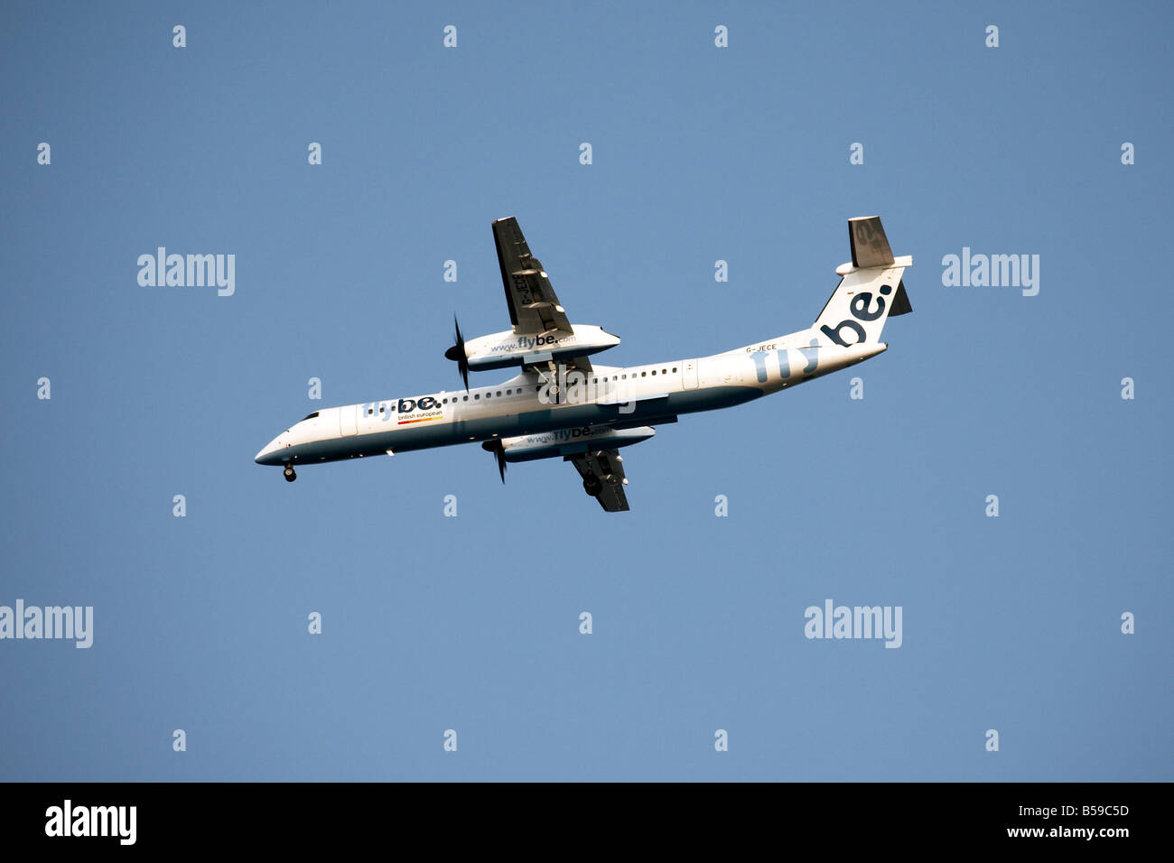 G JECE flybe fly be british european aircraft landing at airport Southampton England UK - Stock Image