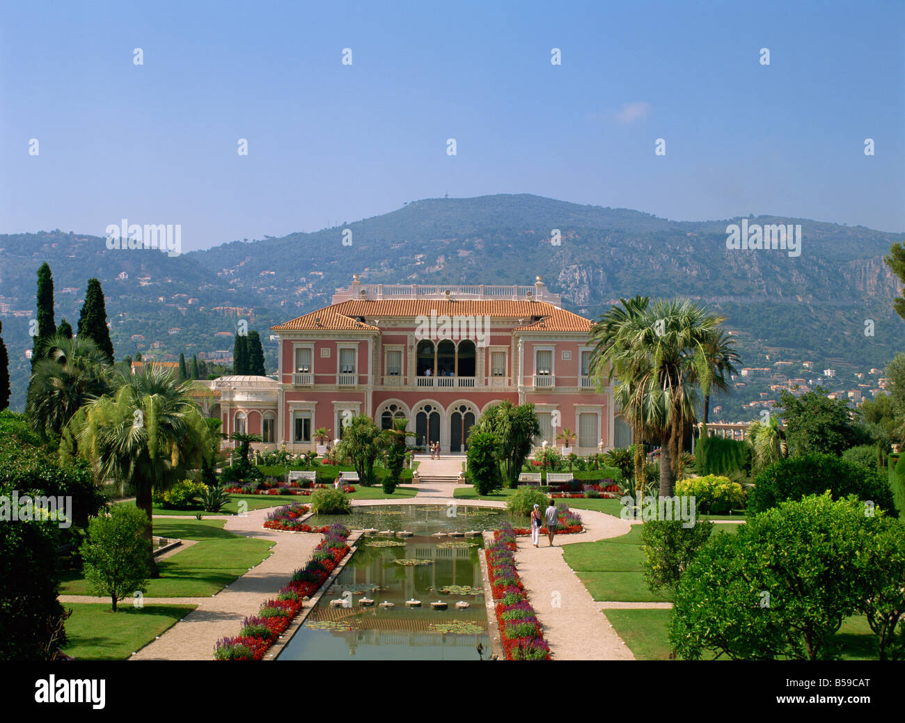 Musee Ephrussi de Rothschild and gardens Cap Ferrat Cote d Azur Provence France Europe - Stock Image