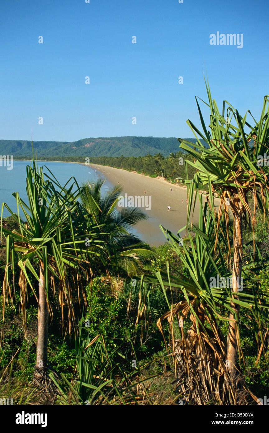 Four Mile Beach Port Douglas Queensland Australia Pacific - Stock Image