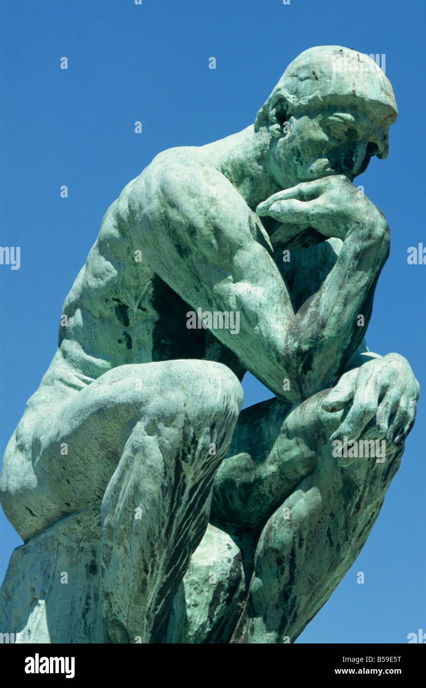 The Thinker by Rodin Musee Rodin Paris France Europe - Stock Image