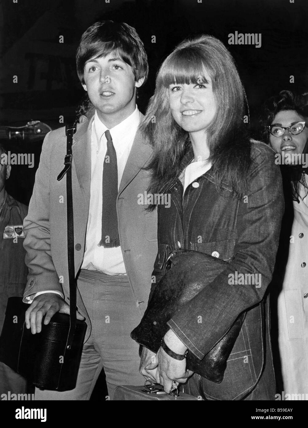 Beatles Pop Group Guitarist And Singer Paul McCartney Jane Asher June 1965 P005115
