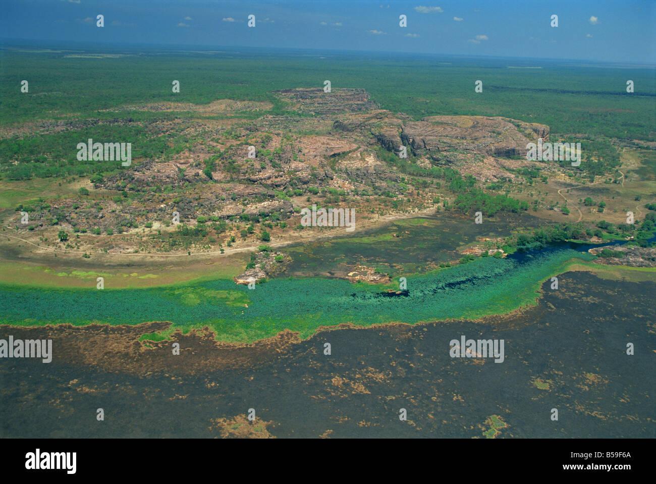 A billabong, on the floodplain of the East Alligator River near the border of Arnhemland and Kakadu National Park, - Stock Image