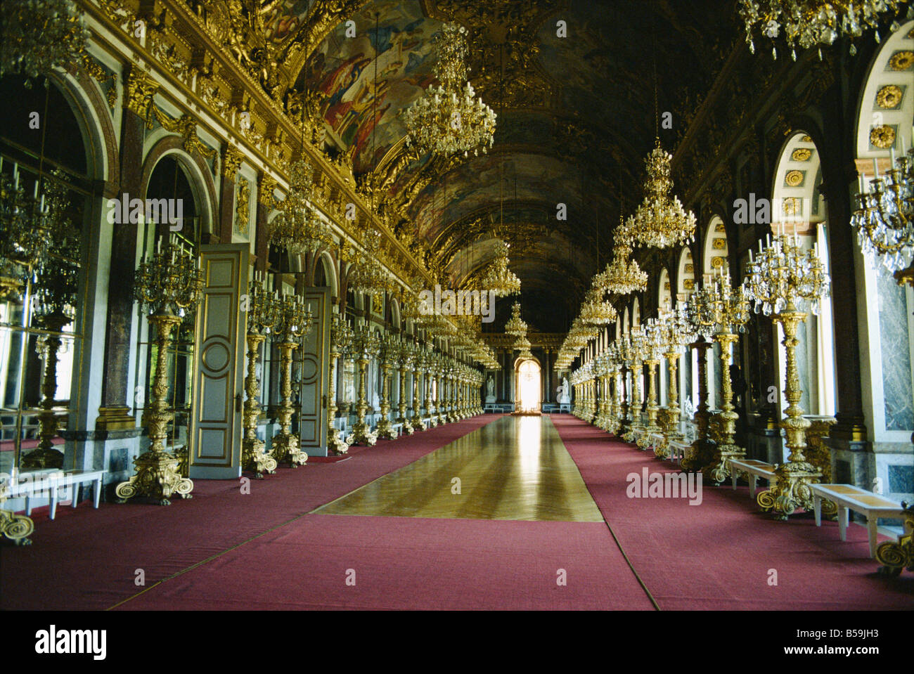 Interior Herrenchiemsee Castle Bavaria Germany Europe - Stock Image