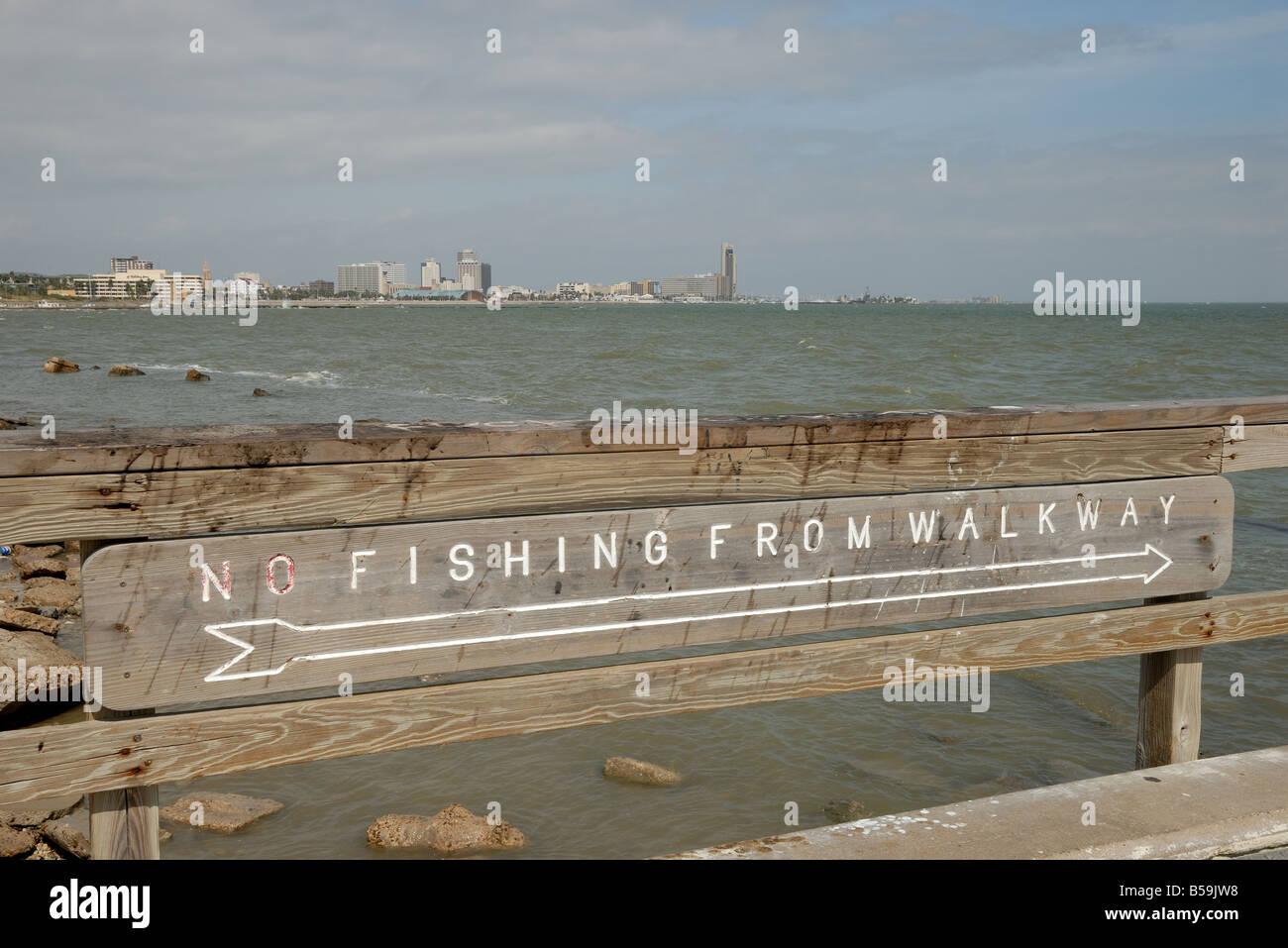 Pier in Corpus Christi, Texas USA - Stock Image