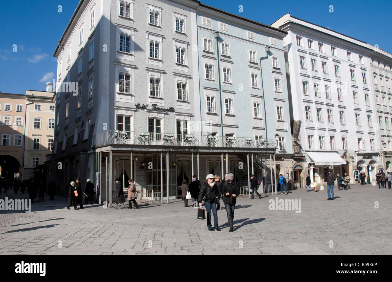 The Alter Markt, a square famous for its good shops, Salzburg, Austria, Europe - Stock Image