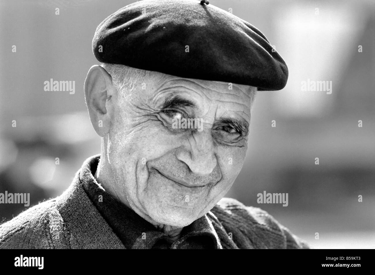 f88b3ba155bfc Elderly Man Wearing A Beret Stock Photos   Elderly Man Wearing A ...