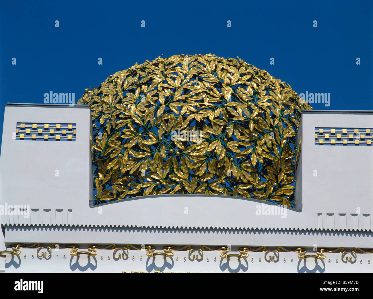 Secession Building by Joseph Maria Albrich Vienna Austria Europe - Stock Image