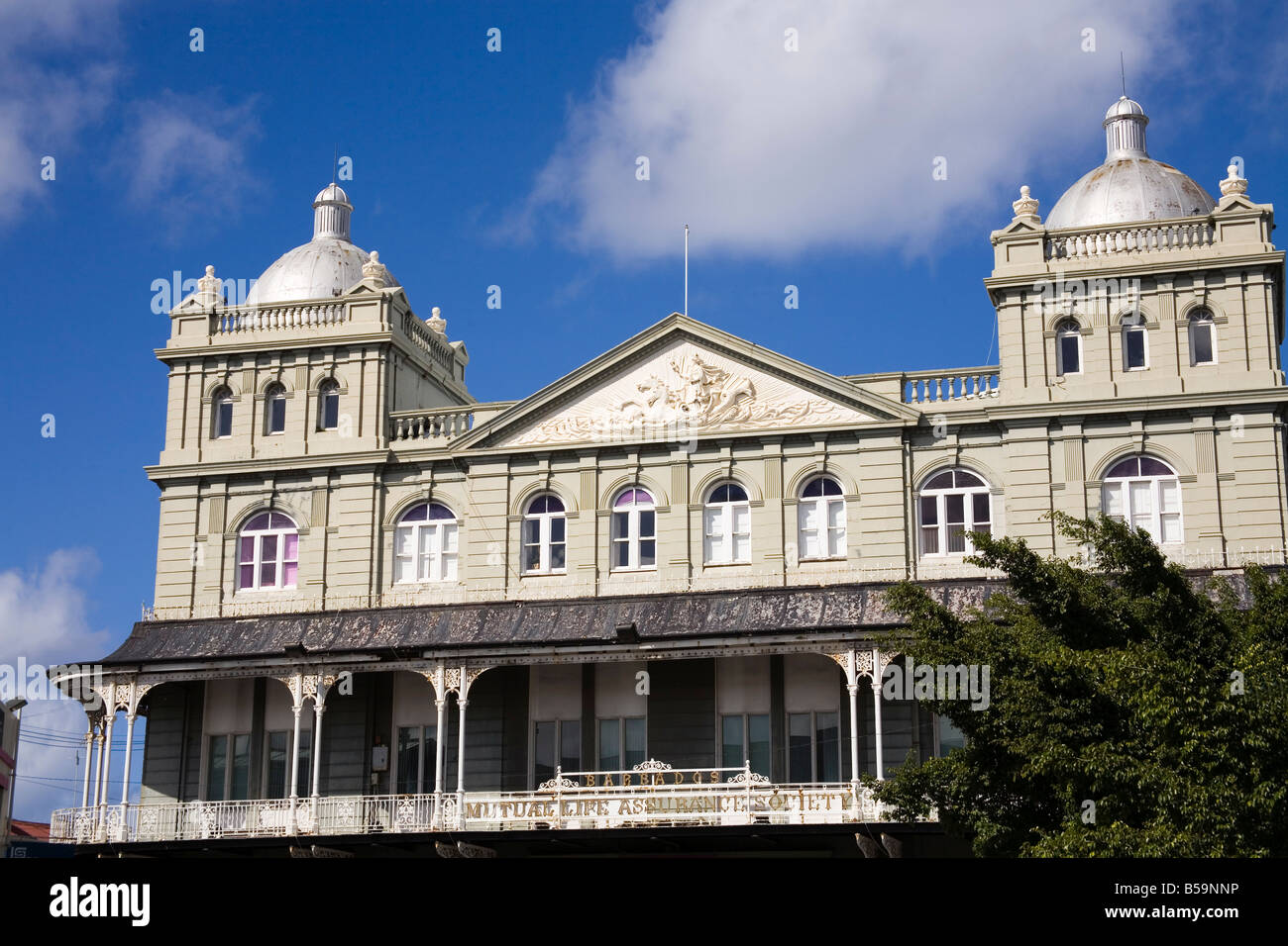 Mutual Life Assurance Building, Bridgetown, Barbados, West Indies, Caribbean, Central America - Stock Image