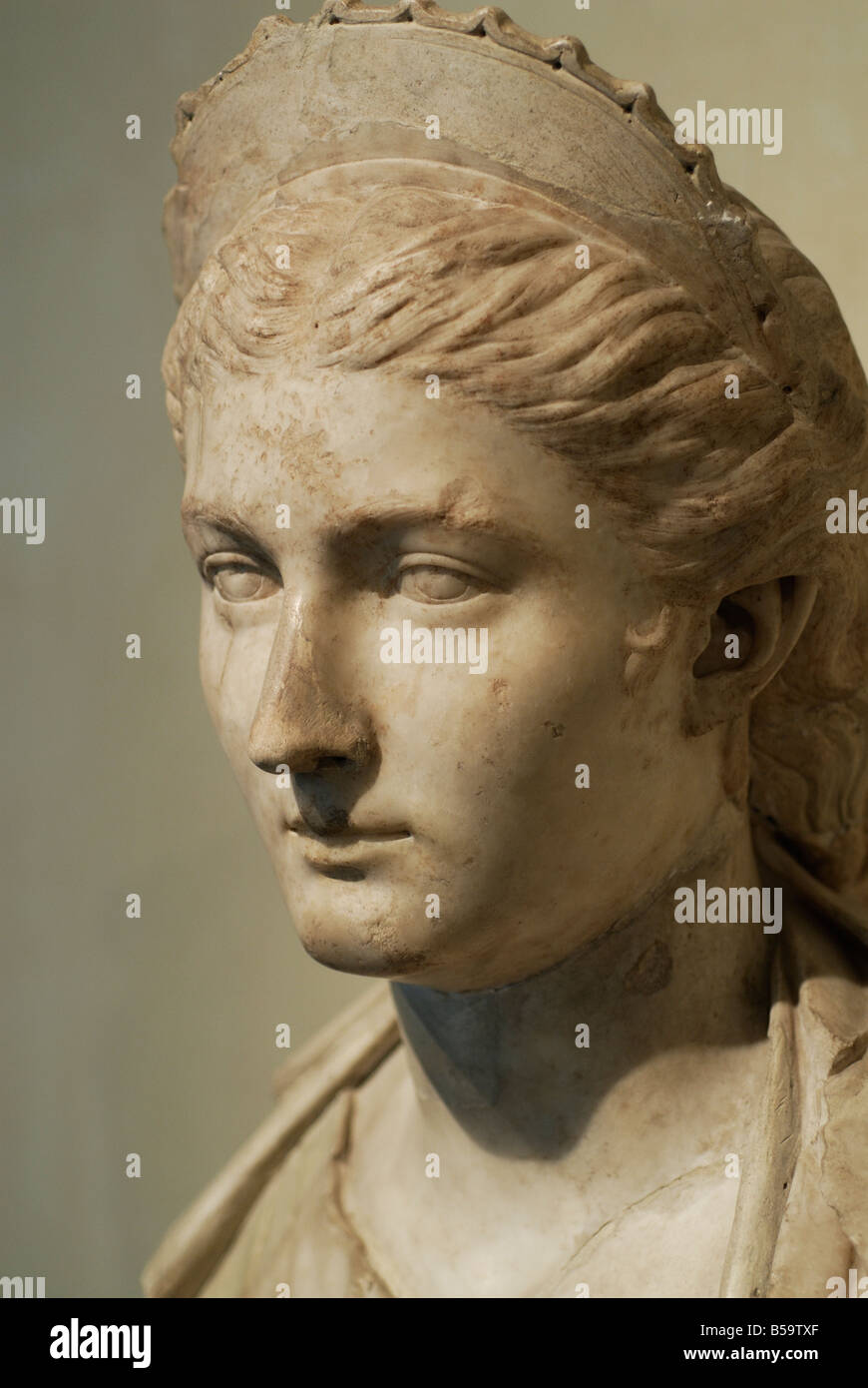 Rome. Italy. Capitoline Museums, Portrait of Sabina AD 130 140. - Stock Image