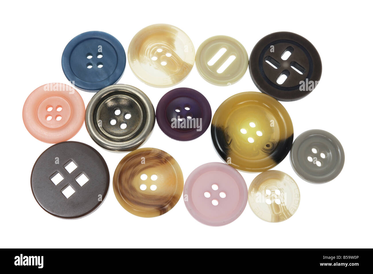 Assortment of Buttons - Stock Image