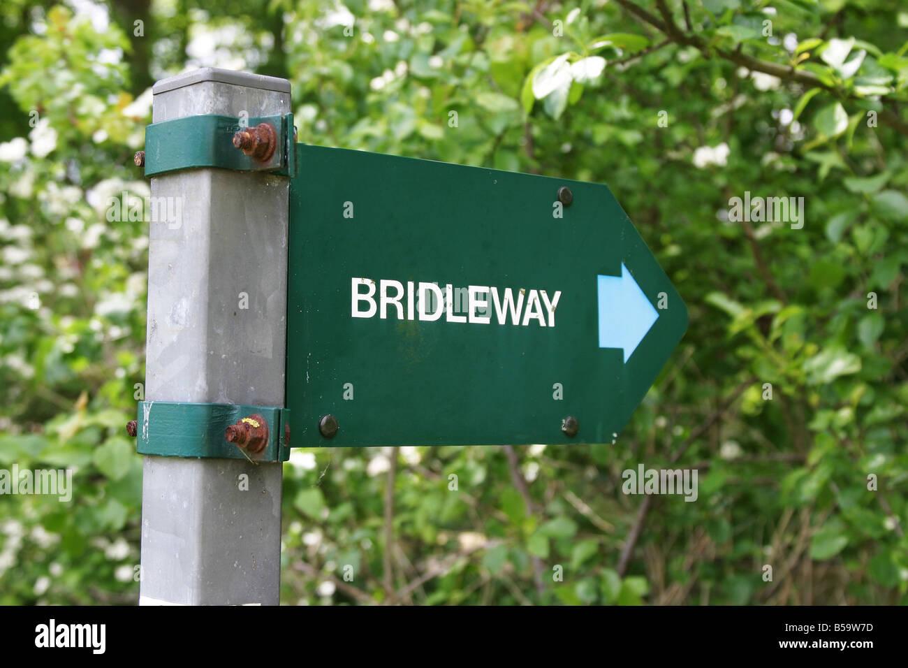 Bridleway sign - Stock Image