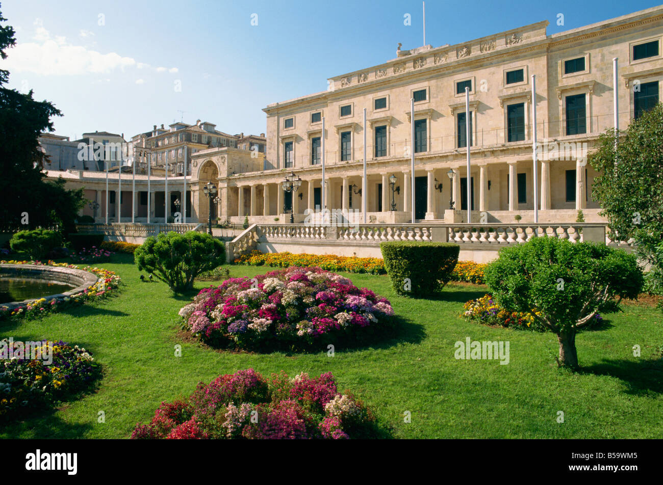 Formal gardens and the Pa of St Michael and St George built ...