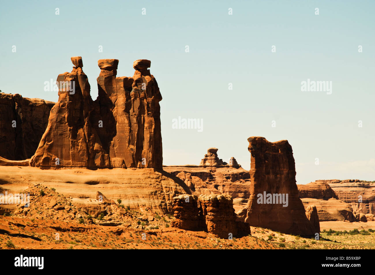 three gossips arches national park - Stock Image
