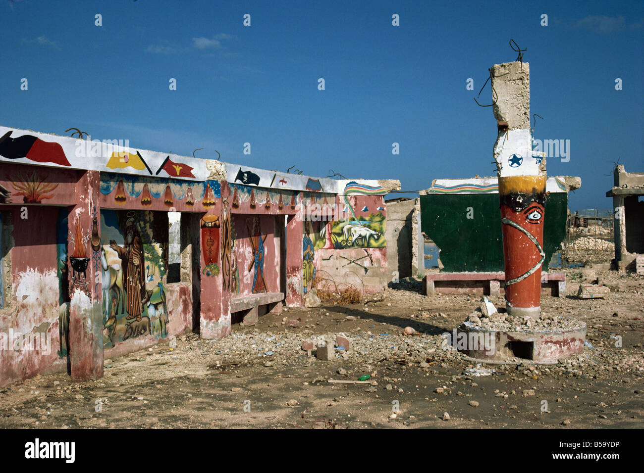 Voodoo temple in Port au Prince Haiti West Indies Central America - Stock Image