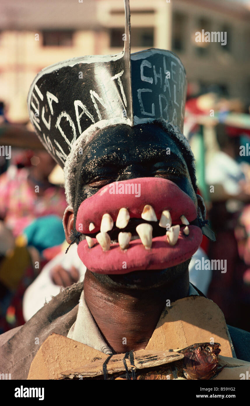Carnival, Port au Prince, Haiti, West Indies, Central America Stock Photo