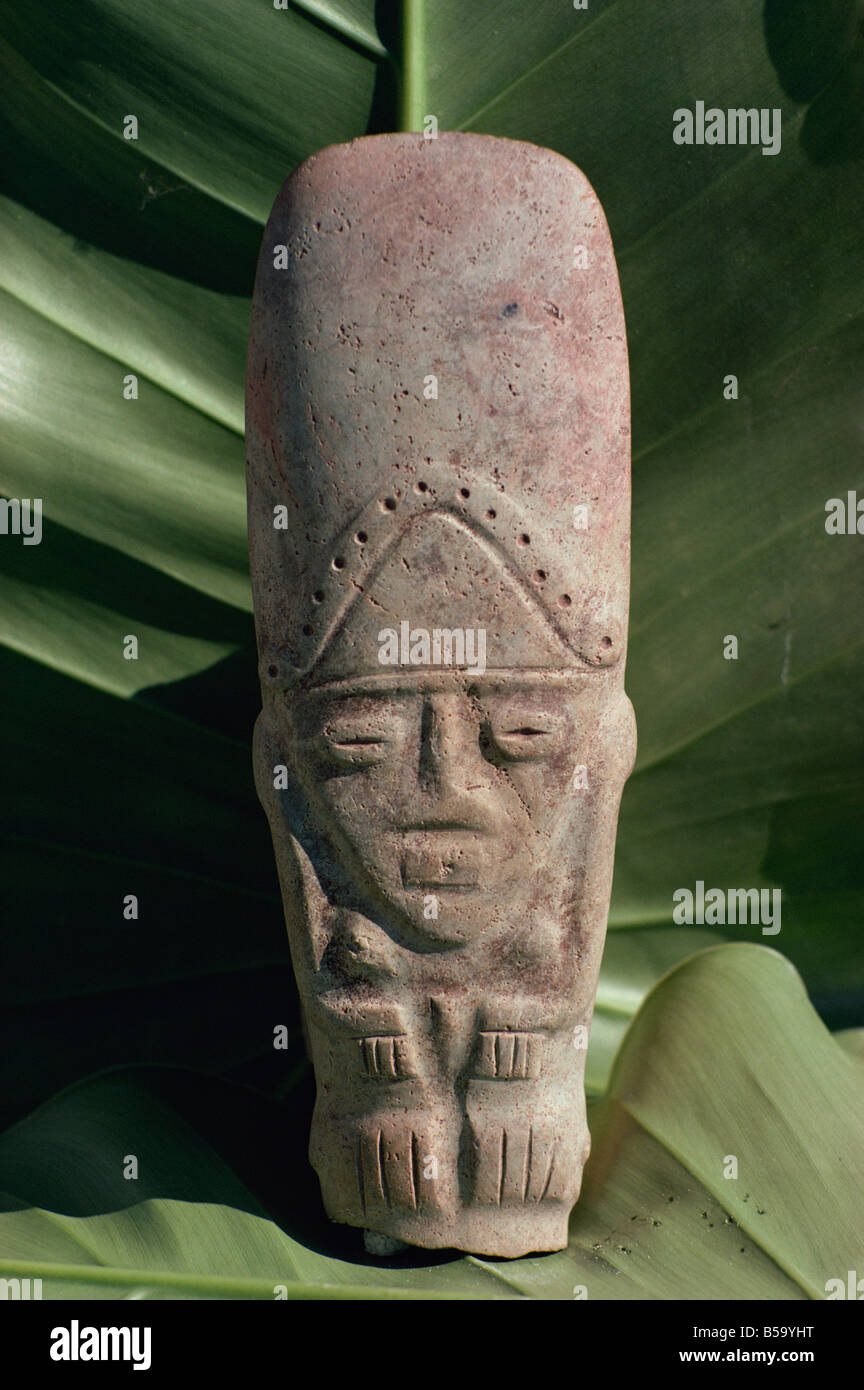 Pre-Columbian Indian artefact, from the Hodges Collection, Haiti, West Indies, Caribbean, Central America - Stock Image