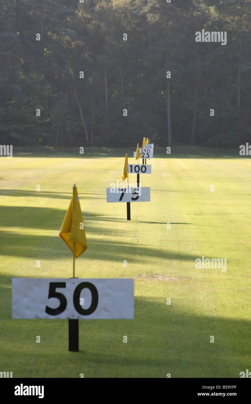 Golf Driving range - Stock Image