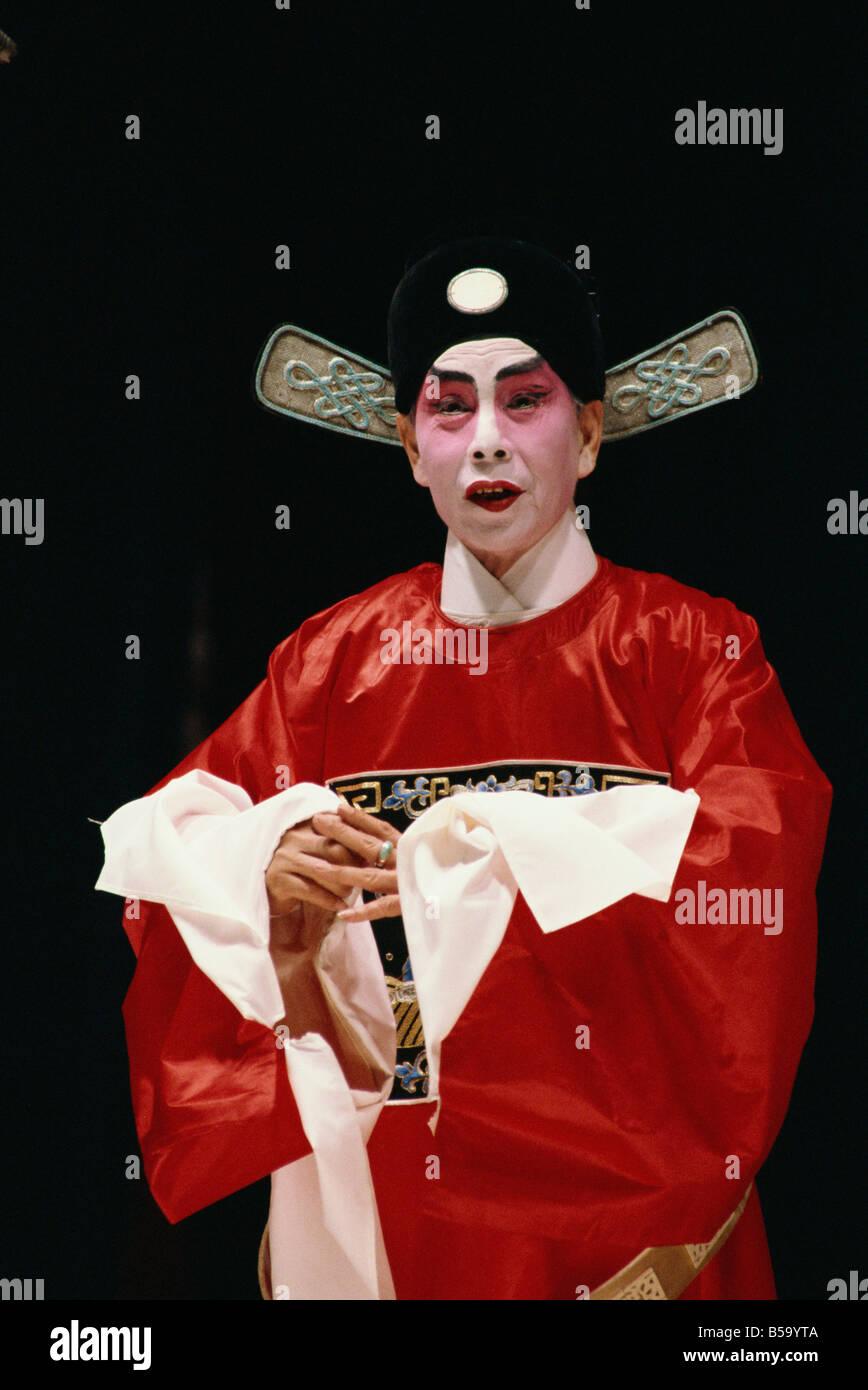 Chinese stage opera Cheung Chau Island Hong Kong China Asia - Stock Image