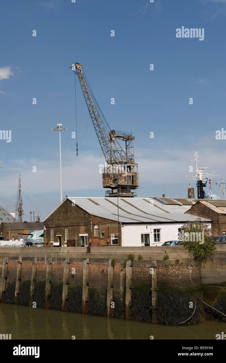 Chatham Dockyard Dockside - Stock Image