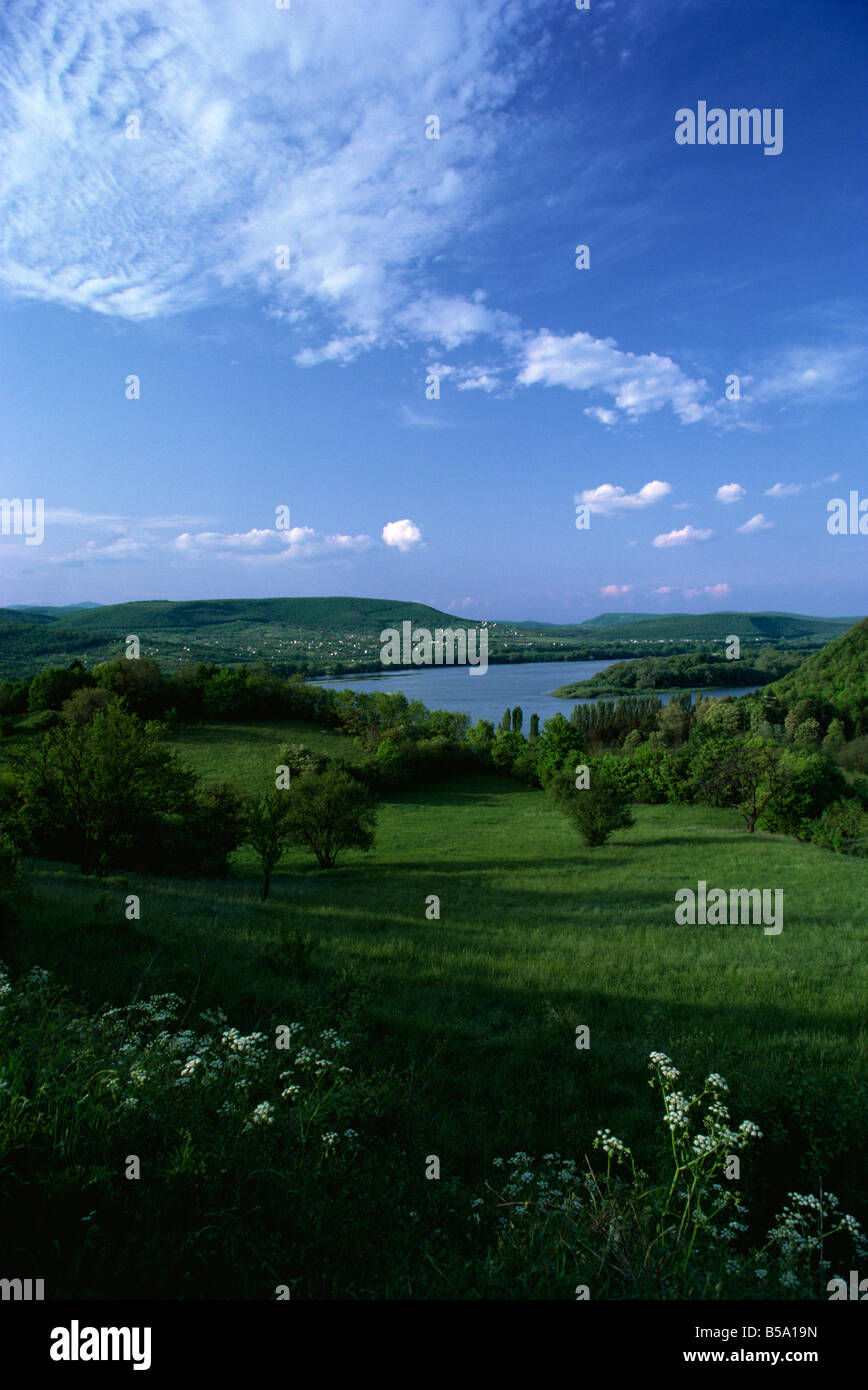 Bend in the Danube River, Hungary, Europe - Stock Image