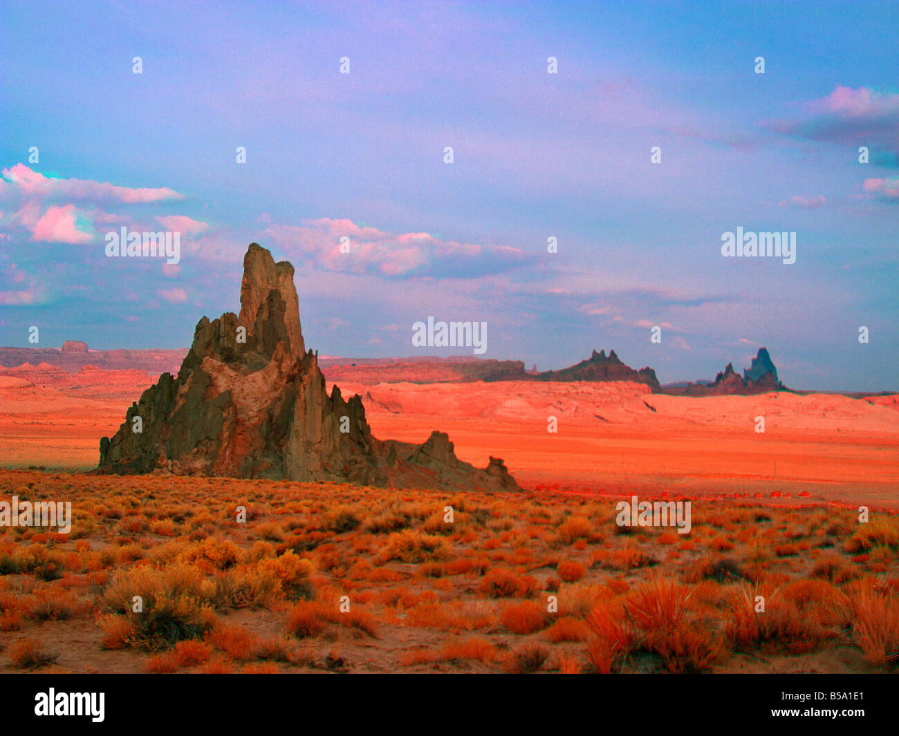 Church Rock Kayenta Arizona USA in False Color