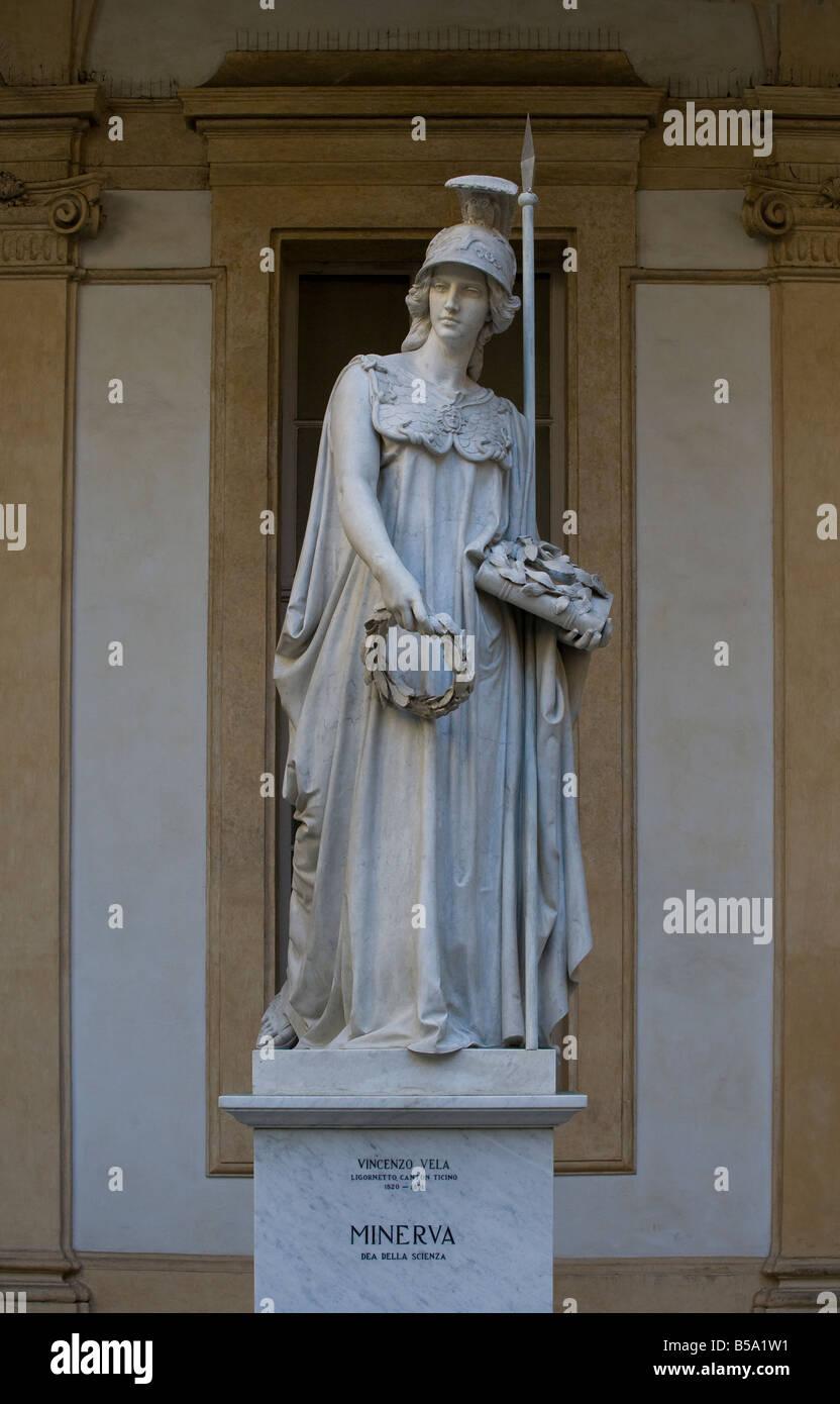 Classic statue, Minerva - Stock Image
