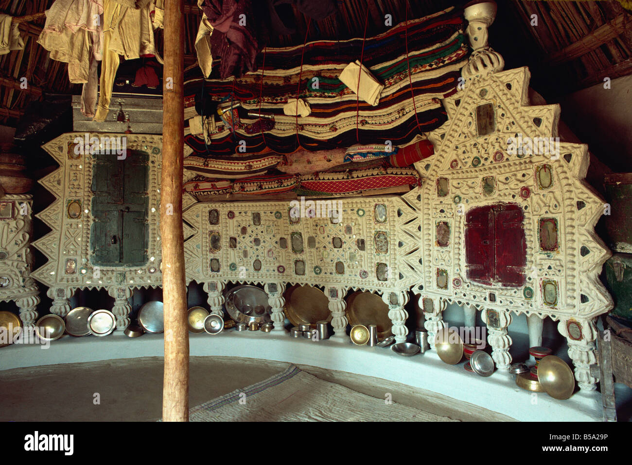 Rabari tribal interior Kutch district Gujarat state India Asia - Stock Image