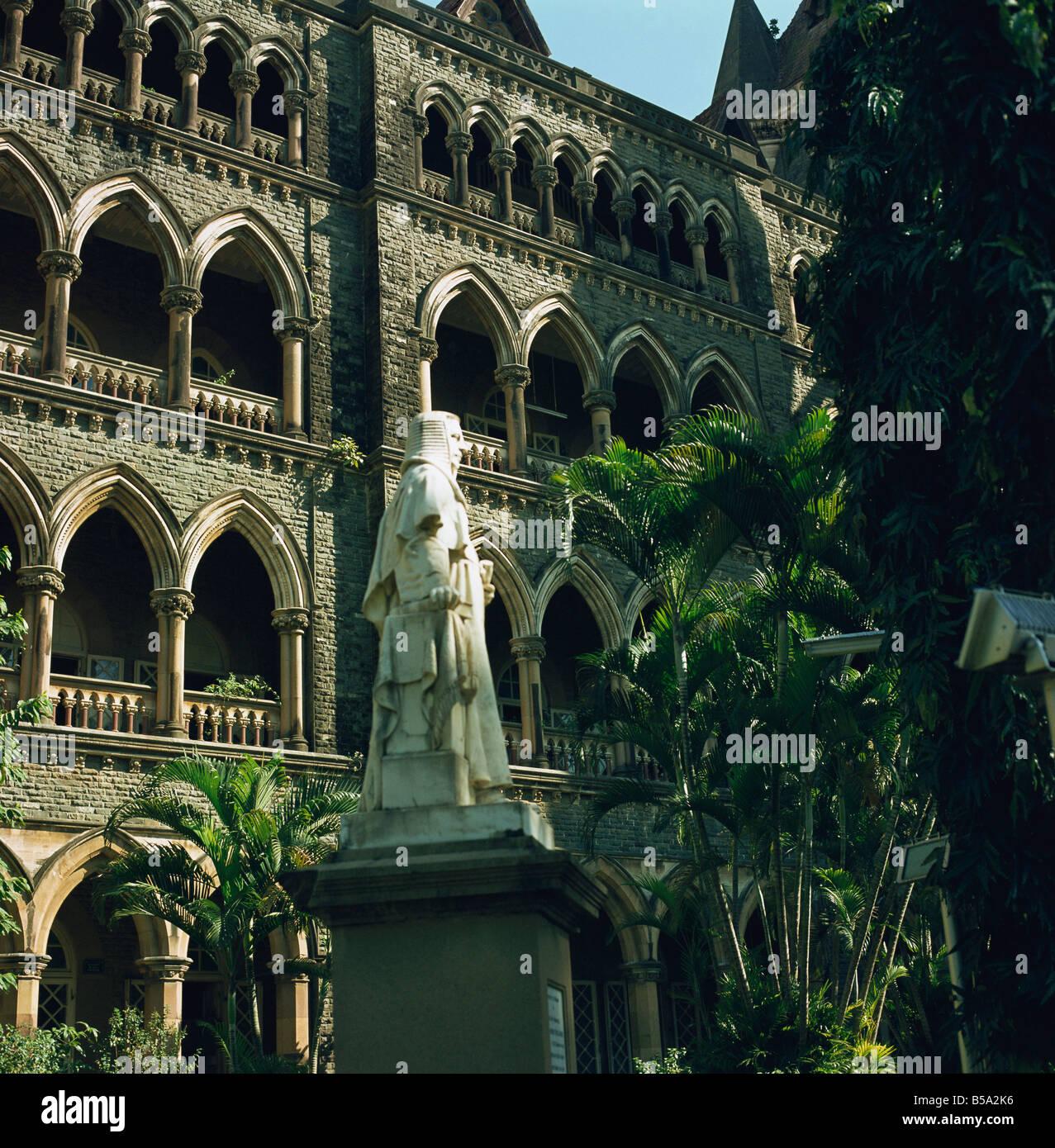 Law Courts Mumbai India Asia - Stock Image