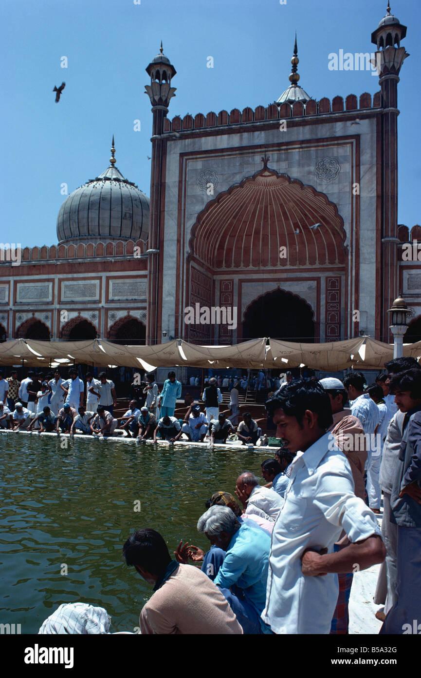 Jama Masjid (Friday Mosque), Old Delhi, India - Stock Image