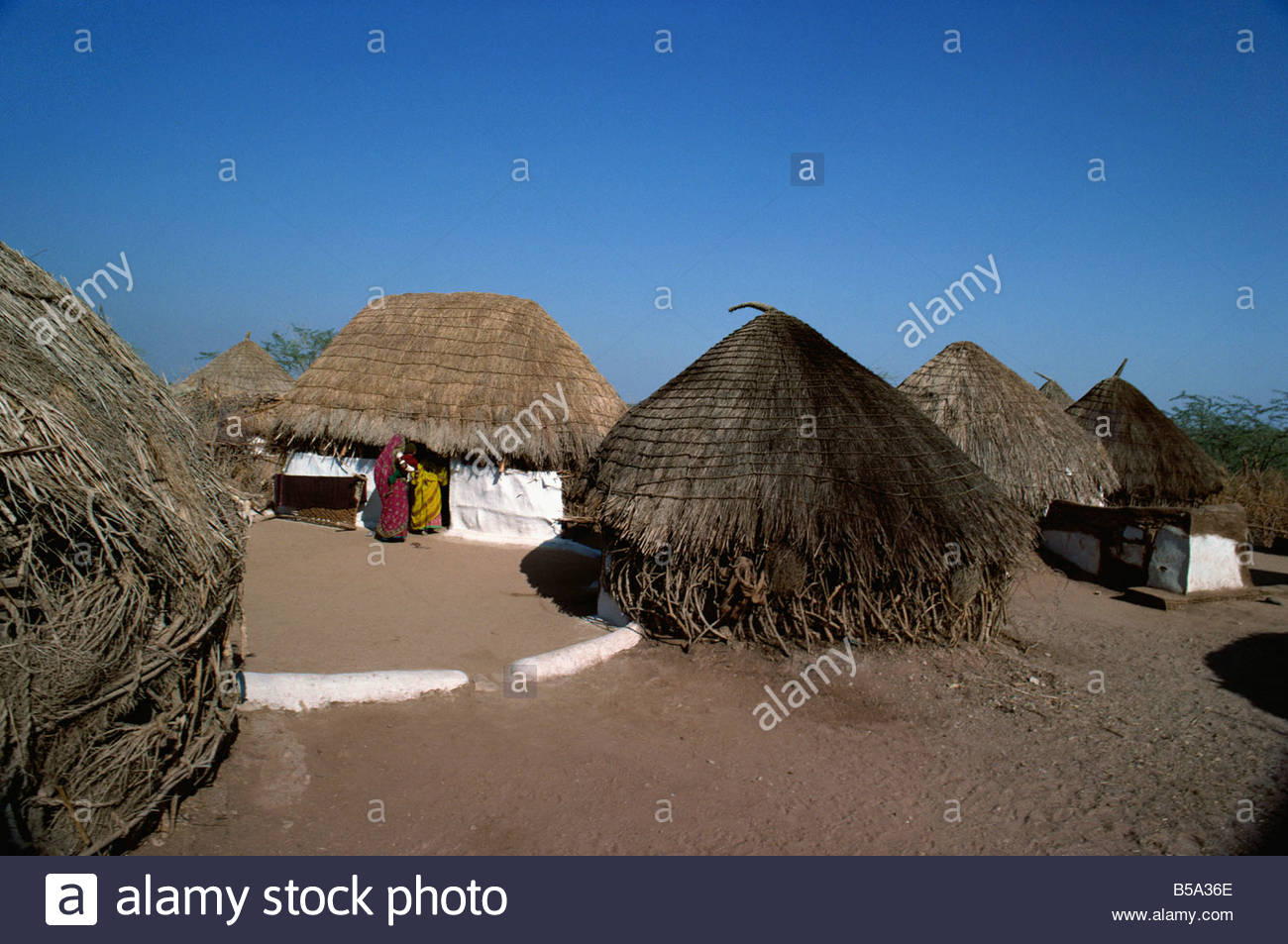 Sodha village, Jhura, Kutch district, Gujarat state, India - Stock Image