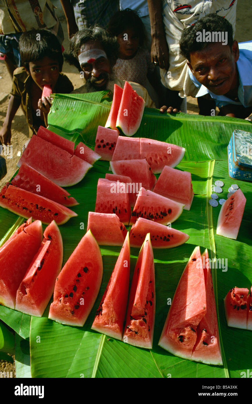 Water melons south India India Asia - Stock Image