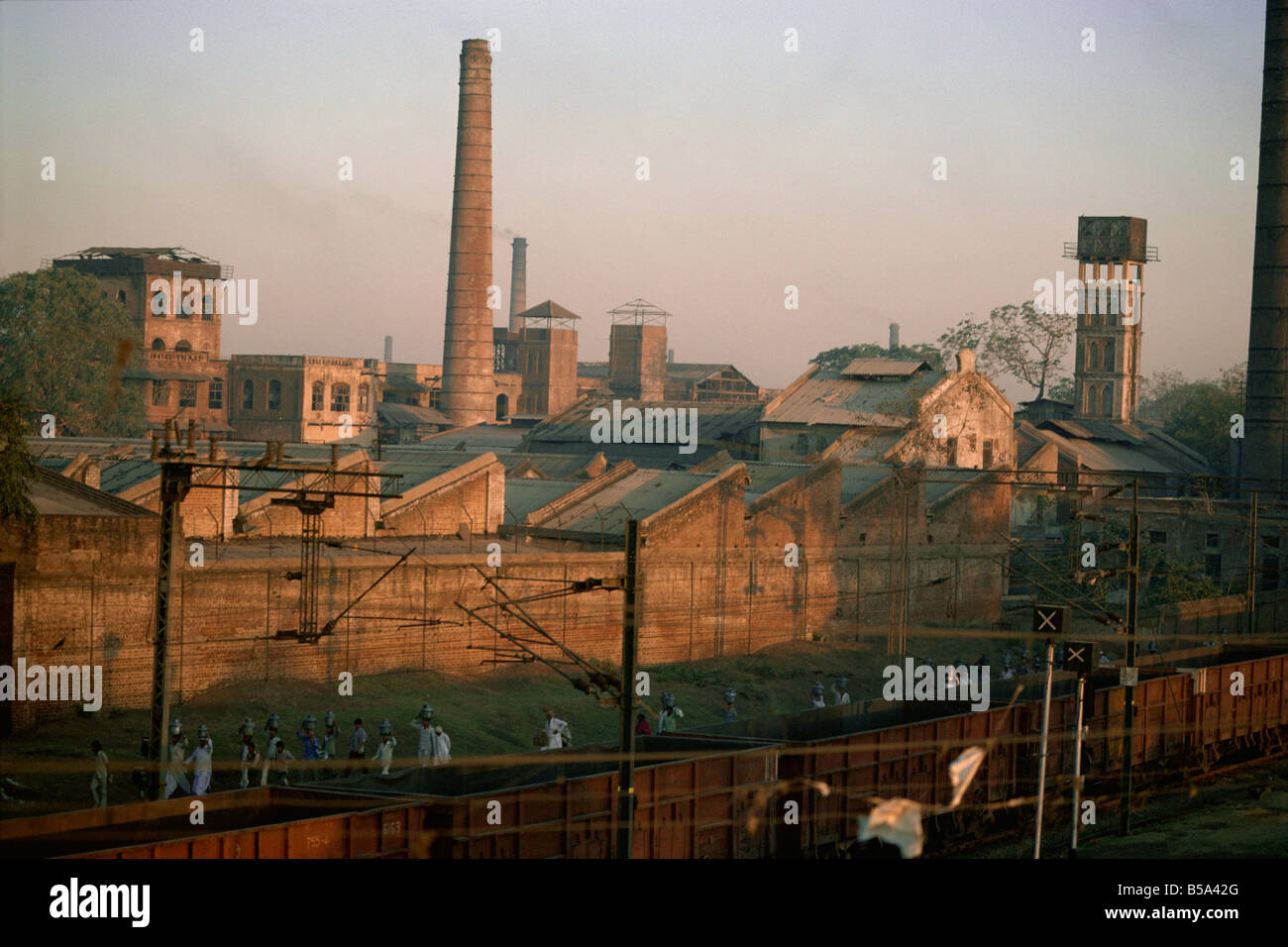 Cotton mills in Ahmedabad the Manchester of the East Gujarat India Asia - Stock Image