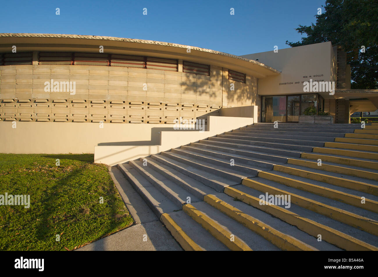 Designed by architect Frank Lloyd Wright the Thad Buckner building on the campus of Florida Southern College in - Stock Image