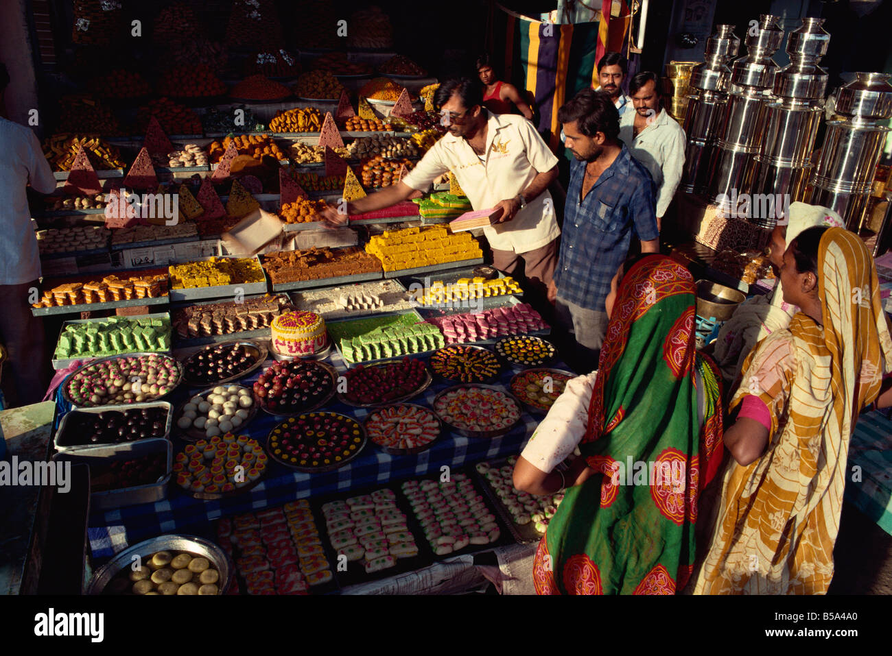 Sweet shop Ahmedabad Gujarat India Asia - Stock Image